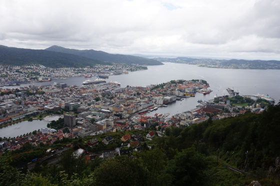 Bergen - Outstanding views of Bergen from the Fløyen Hill