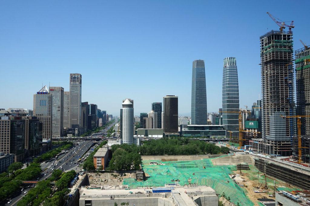 Beijing skyscrapers
