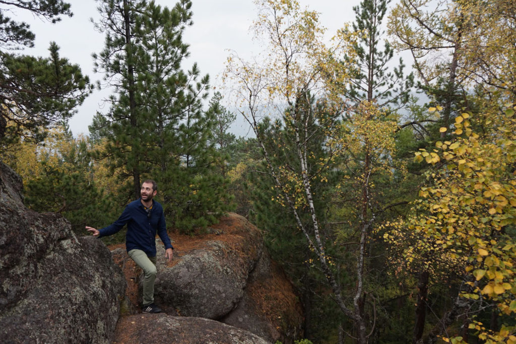 Happy in Stolby National Park