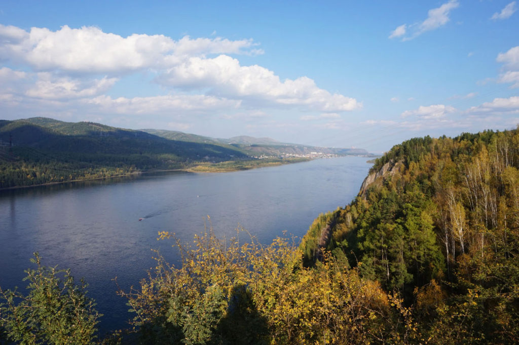 Krasnoyarsk and Stolby - View over Yenisei River