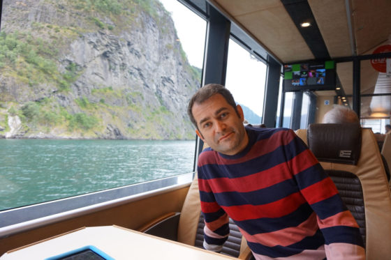 Sognefjord - Having a great time on the boat to Bergen