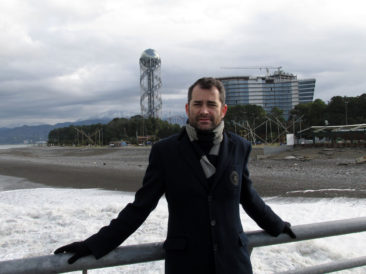 Batumi - Posing in front of the Alphabetic Tower