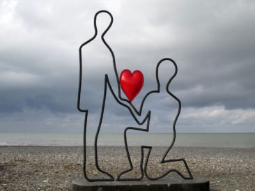 Batumi - Declaring love in front of the Black Sea