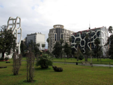 Batumi - Unusual buildings near Cafe Gardens