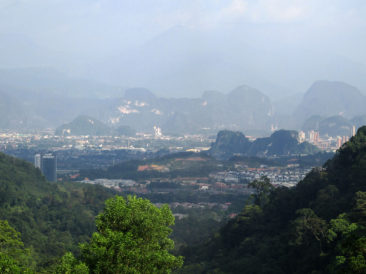 View of Ipoh from the highway