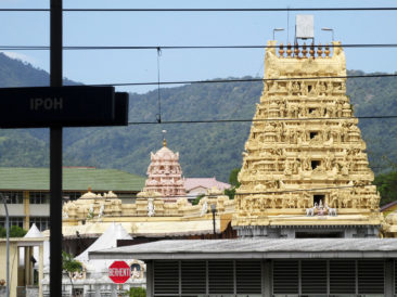 Ipoh Railway Station and Maha Ganapathy Alayam Temple