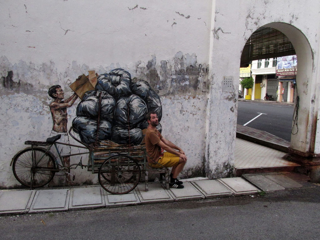 Ipoh Street art and coffee shops