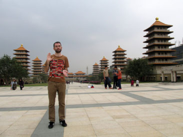 Kaohsiung - Being silly in Fo Guang Shan Buddha Memorial Centre