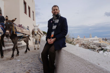 Me and the donkeys.
