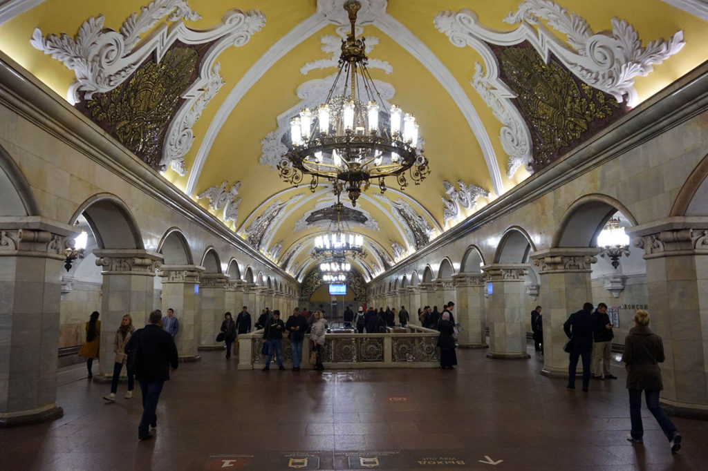 Getting around Russia - Moscow metro
