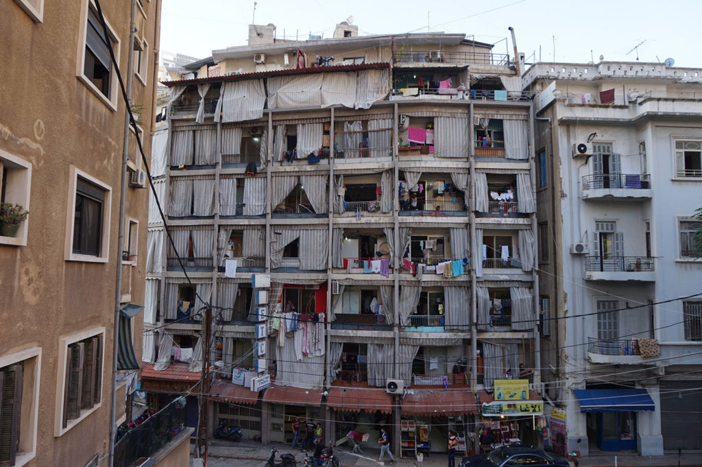 Typical residential building in Beirut