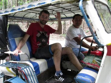 In Tricycle with our driver Brian