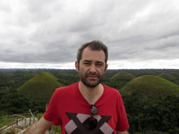 Posing in front of Chocolate Hills