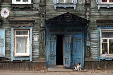 Wooden house in Karla Libknekhta Street