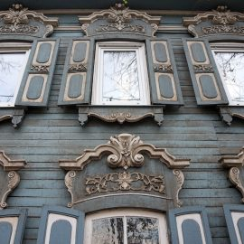 Irkutsk Siberia - Detail of a wooden house