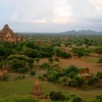 Bagan seen from the top of a temple
