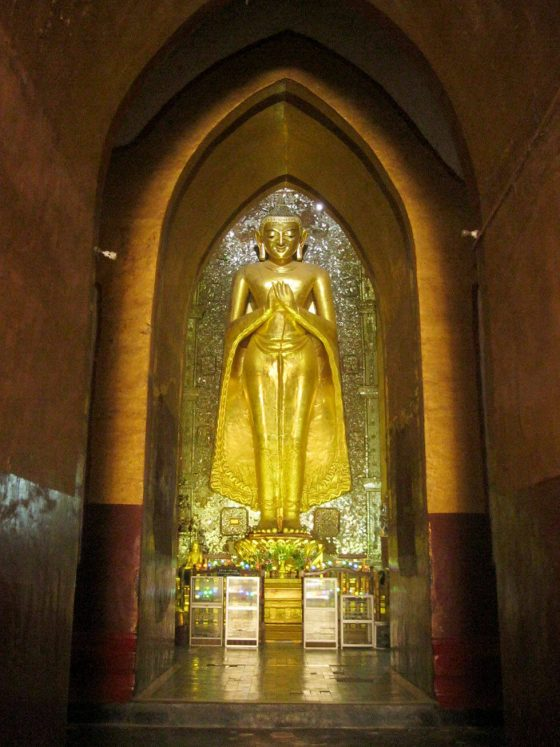Giant Buddha inside a temple