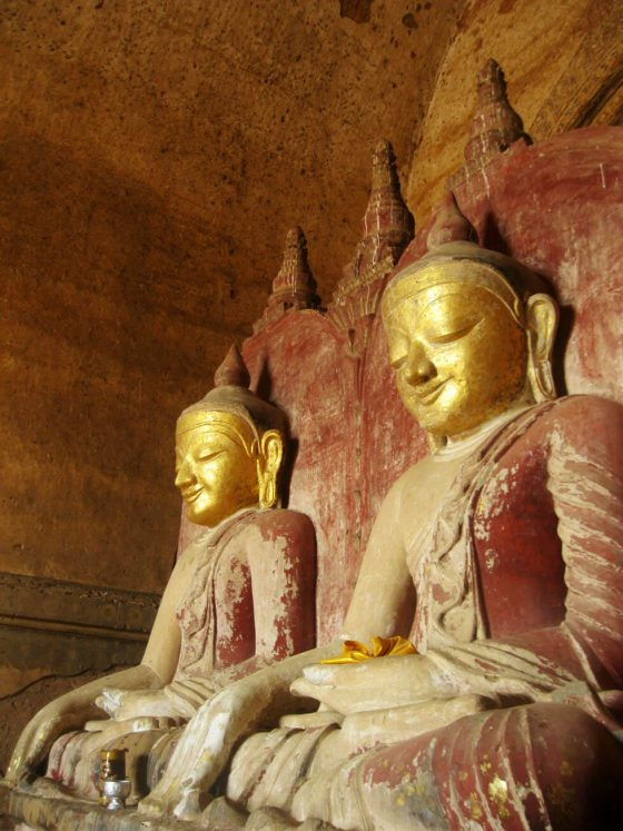 Giant Buddhas inside a temple
