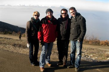 With friends on Vodno