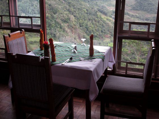Hotel Banaue view from the restaurant