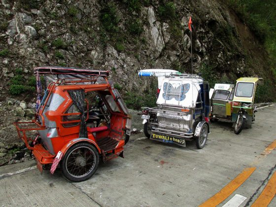 Tricycles in Banaue