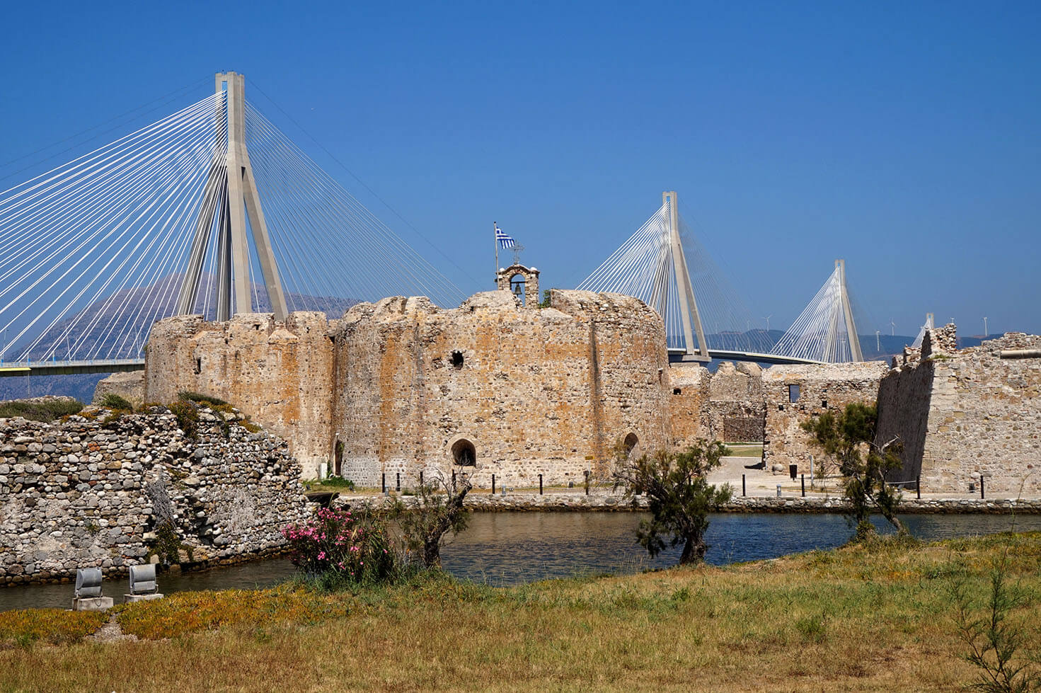 Rio Antirrio bridge and fortress