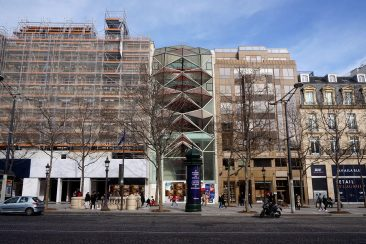 Contemporary bulding on Champs Elysees