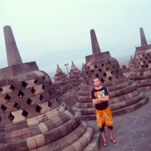 Waiting for the sunset in Borobudur