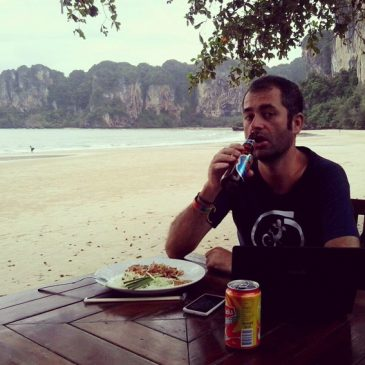 Having a beer in Railay