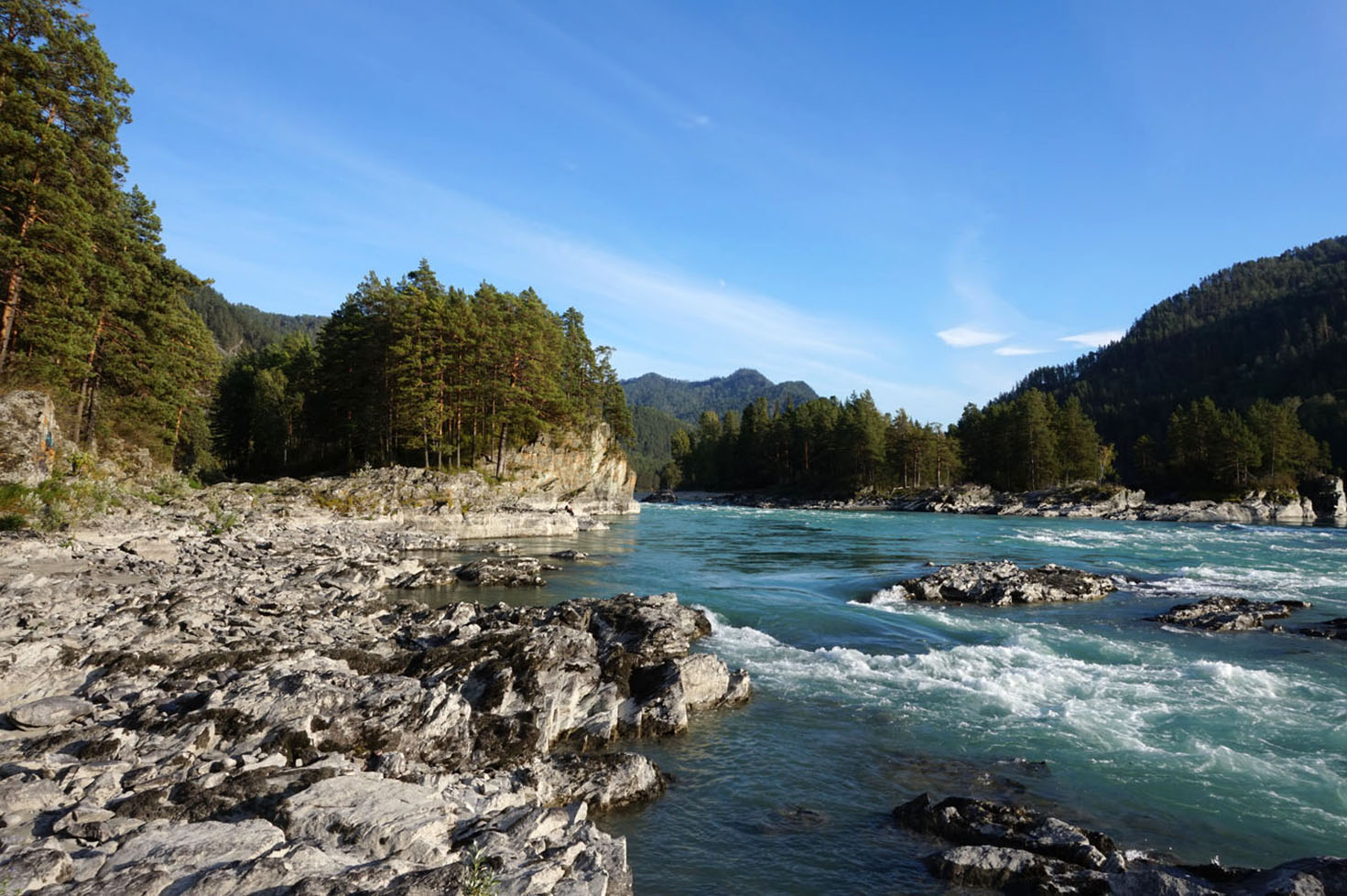 Altai Mountains - Katun River in Ust'-Muny