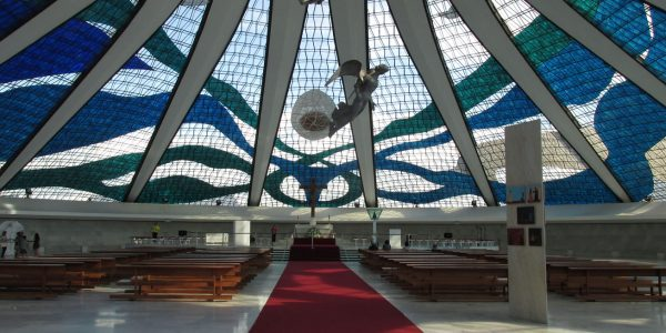 Inside the Brasilia Cathedral
