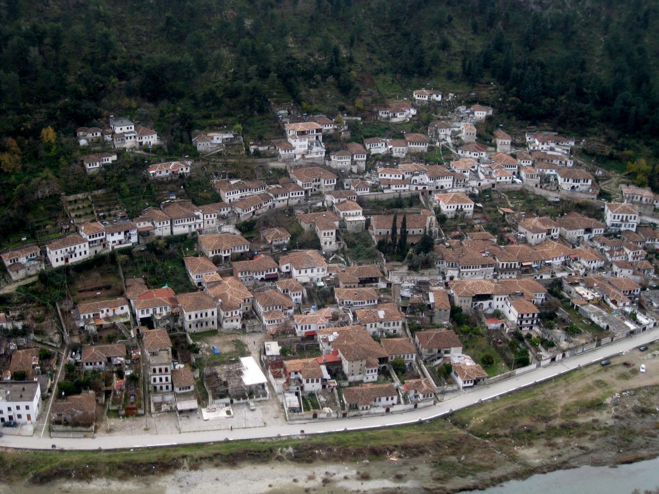 Gorica seen from the Berat castle
