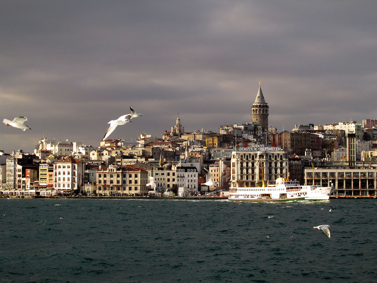 View of Galata from the sea