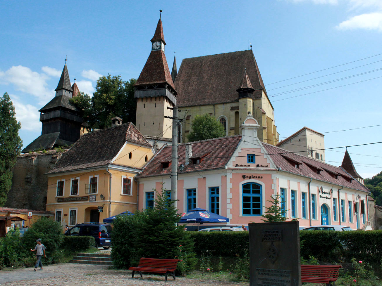 Biertan with Fortified Church in the back