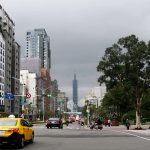 View of Taipei 101 from Xinyi Road