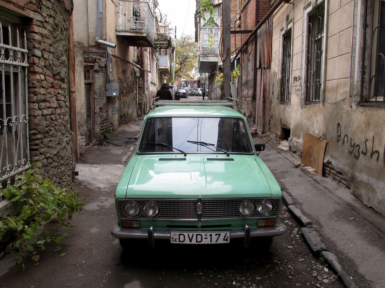 Old car in an old street