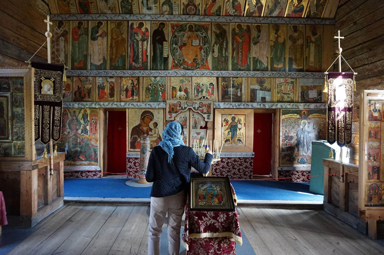 Inside the Church of the Intercession