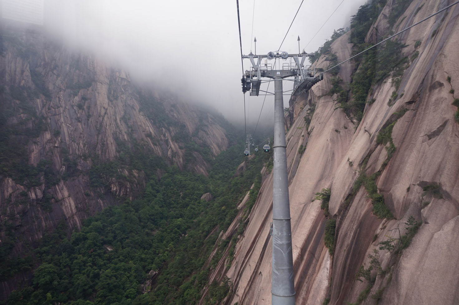 Cable Car out of Huangshan