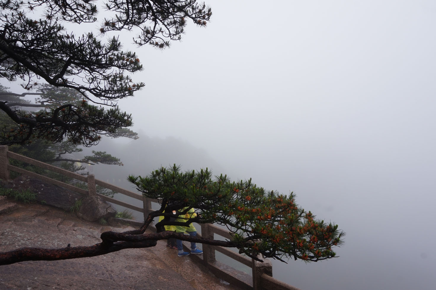 We could literally see nothing in Huangshan