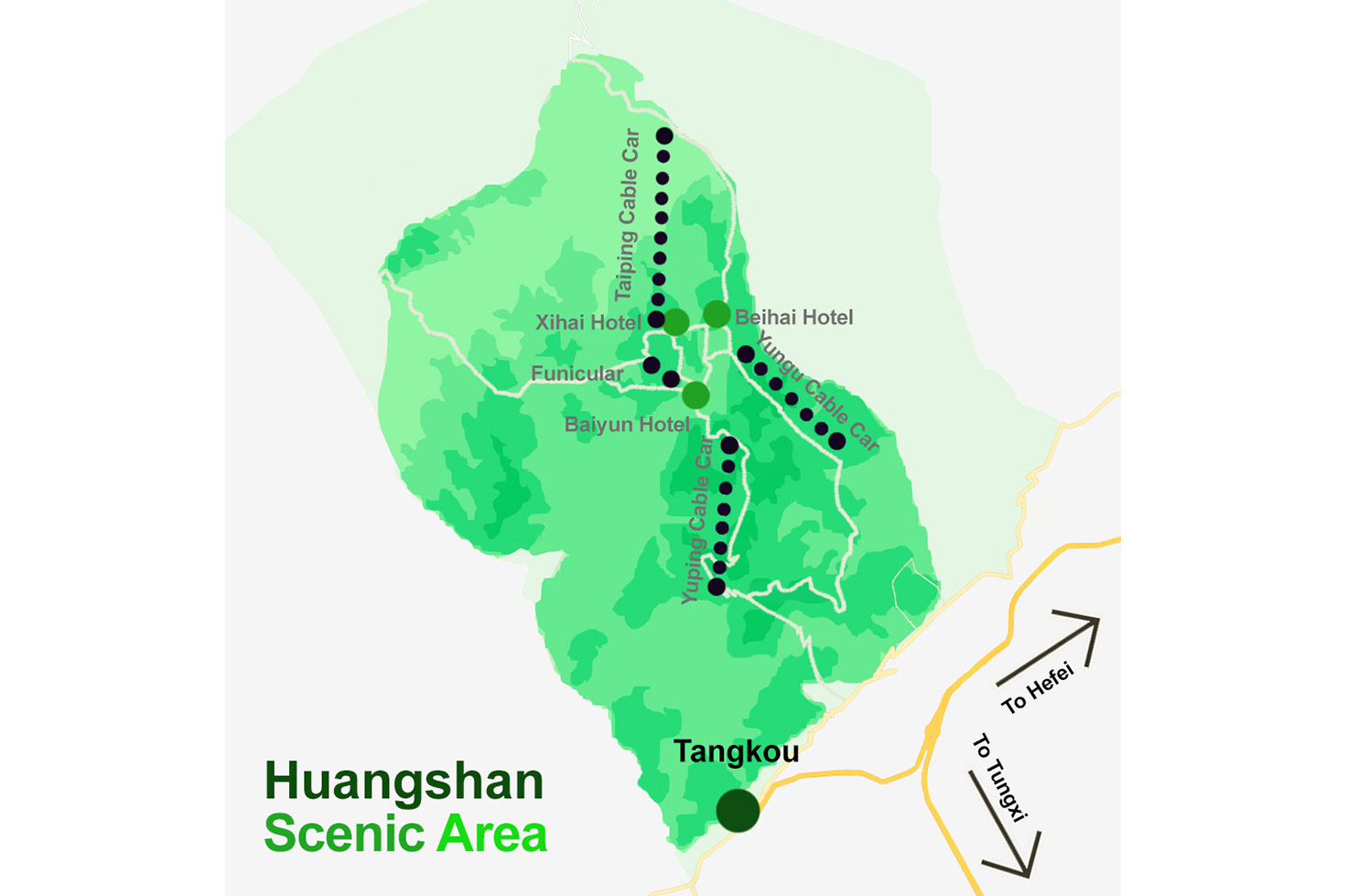 Huangshan Scenic Area Map